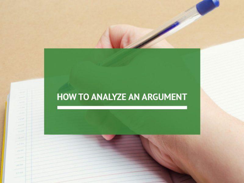 analyze an argument
