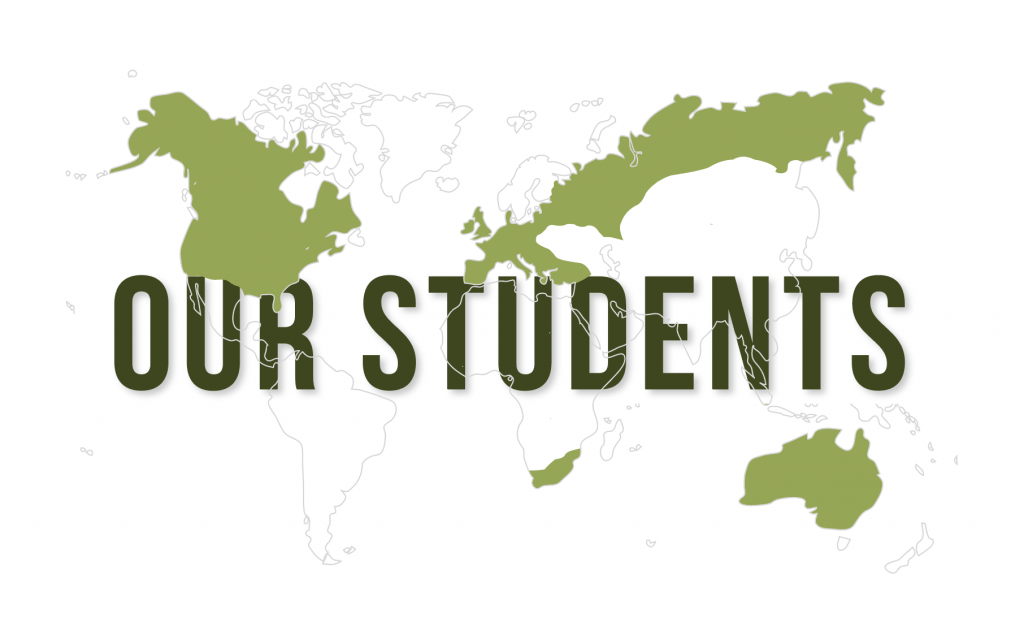 Countries our students have gone to